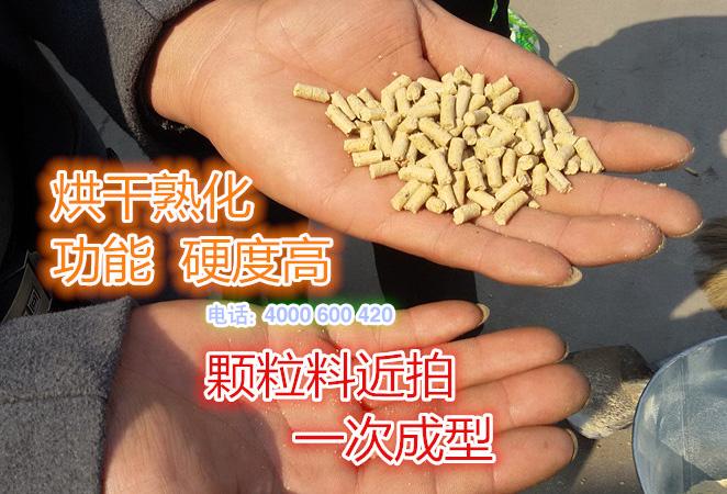 300型饲料颗粒机制粒效果图片