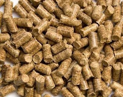 使用吉姆克牌牛羊猪兔鸡饲料颗粒机加工出的颗粒饲料 颗粒饲料图片成品