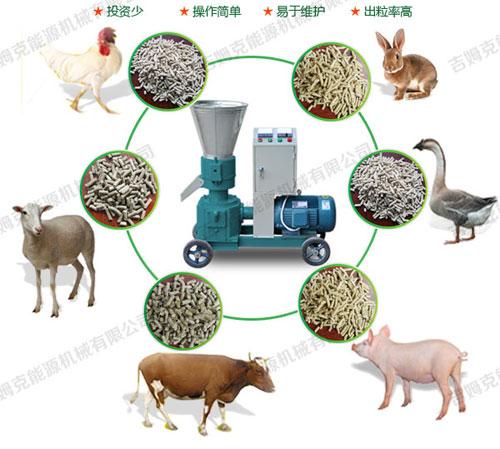 秸秆饲料颗粒机厂家直销 牛羊饲料颗粒机生产线