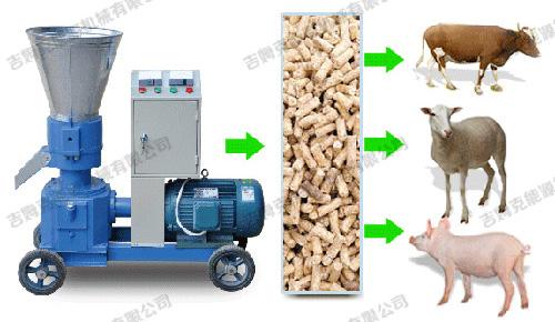 牛羊饲料颗粒机 牛羊猪饲料颗粒机成生产线